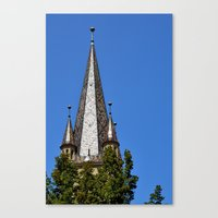 Evangelical Cathedral Bell Tower from Sibiu, Transylvania Canvas Print