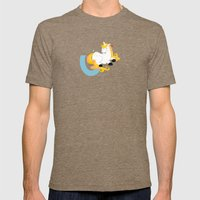 U For Unicorn Mens Fitted Tee Tri-Coffee SMALL
