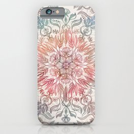 iPhone & iPod Case - Autumn Spice Mandala in Coral, Cream and Rose - micklyn