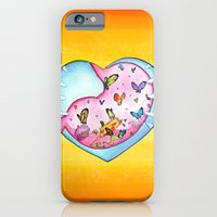 iPhone & iPod Case featuring All a Flutter by mendydraws