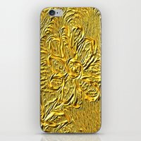 Embossed Floral iPhone & iPod Skin
