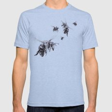 Crown of Bees Mens Fitted Tee Athletic Blue SMALL