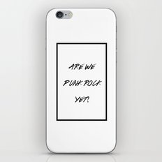 Punk Rock iPhone & iPod Skin