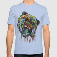 Sophisticated Bear Mens Fitted Tee Athletic Blue SMALL