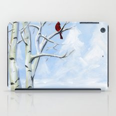 Snow Cardinal iPad Case