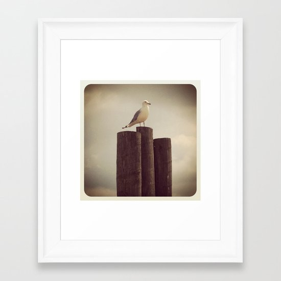 INSTAGRAM ART -Erie Gull- Framed Art Print