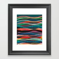 Wave Blaze Framed Art Print
