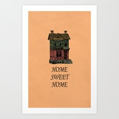 Home Sweet Home Quotes Art Print