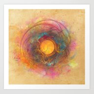 Sun Fractal Art Print