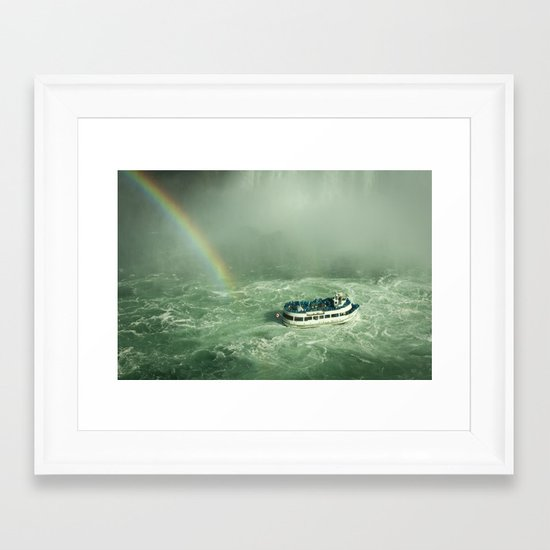 Lady of the mist Framed Art Print