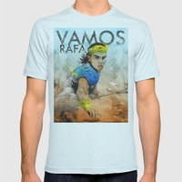 Rafa Nadal Mens Fitted Tee Light Blue SMALL