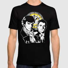 John and Sherlock  SMALL Black Mens Fitted Tee
