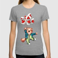 Bob's Balloons  Womens Fitted Tee Tri-Grey SMALL