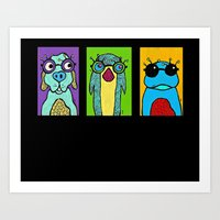 Guys with Glasses Art Print