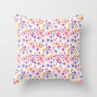 Watercolour Floral Throw Pillow
