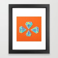 Diamonds Papercut Framed Art Print