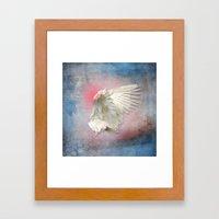 Lost Angel Wing Framed Art Print