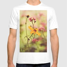 Lemon drop Flower box White Mens Fitted Tee SMALL