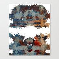 disquiet six (desintegração) Canvas Print
