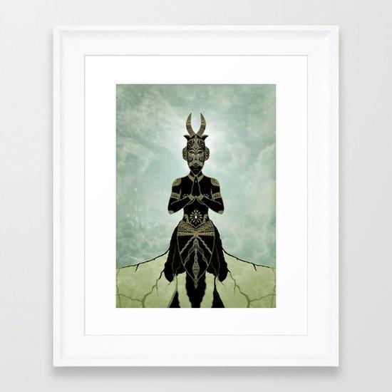 Ornate spirituality Framed Art Print
