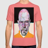 Walter White Breaking Bad (Beige) Mens Fitted Tee Pomegranate SMALL