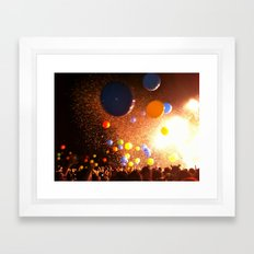 Tunes & Balloons Framed Art Print