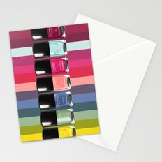C-H-A-N-E-L Designer Nail Polish Print Stationery Cards