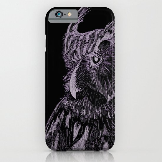 Inverted Horned Owl iPhone & iPod Case