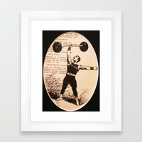 Muscle Man Framed Art Print
