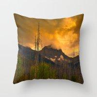 Kootenay Wildfires Throw Pillow
