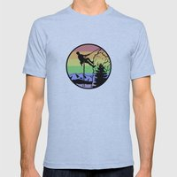 rockclimbing Mens Fitted Tee Athletic Blue SMALL
