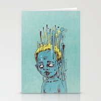 The Blue Boy With Golden… Stationery Cards