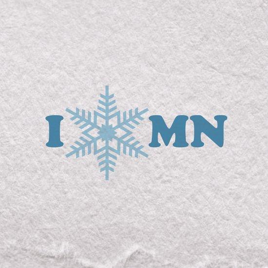I Heart Snow Art Print