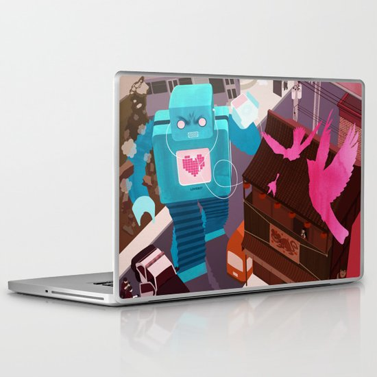 Dance, Lovebot! Dance! Laptop & iPad Skin