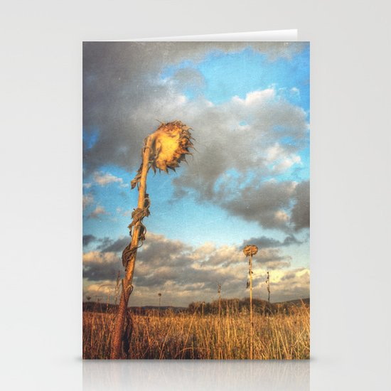 Field of lost Souls - Withered Sunflowers Stationery Card