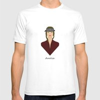 Amelia Mens Fitted Tee White SMALL