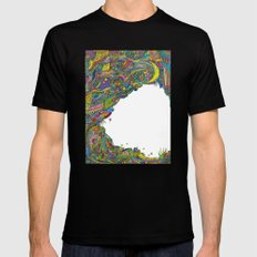 Night sky to look from the cave Black SMALL Mens Fitted Tee