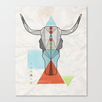 COW GEO Canvas Print