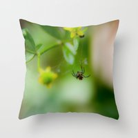 Casting lines Throw Pillow
