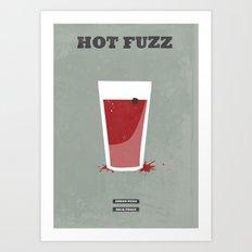 Hot Fuzz - minimal poster Art Print