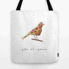 polka dot sparrow Tote Bag