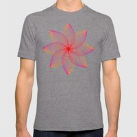 Gradient Strings Blossoms Mens Fitted Tee Tri-Grey SMALL