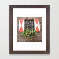 Vintage Window In Zons Framed Art Print