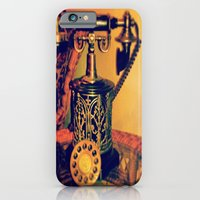 iPhone & iPod Case featuring Vintage Phone by Kim Ramage