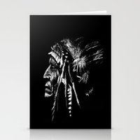 native american Stationery Cards featuring Native American by Sandy Elizabeth