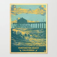 Vintage Huntington Beach… Canvas Print