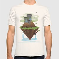 Save the Planet Mens Fitted Tee Natural SMALL