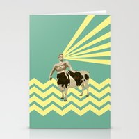 The real muscular cow-boy  Stationery Cards