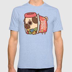 Puglie Poot Loops Mens Fitted Tee Tri-Blue SMALL