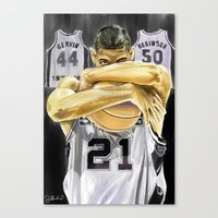 Duncan And The Three Pil… Canvas Print